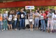 Aktivisti Unije mladih SNS Leskovac delili novi stranački Informator