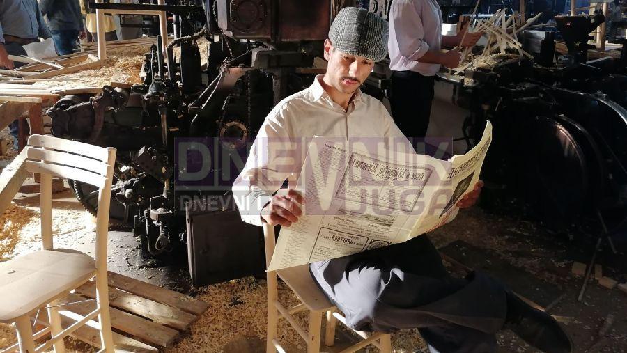 Mirsad Ibrić na setu filma Bilo jednom  u Srbiji